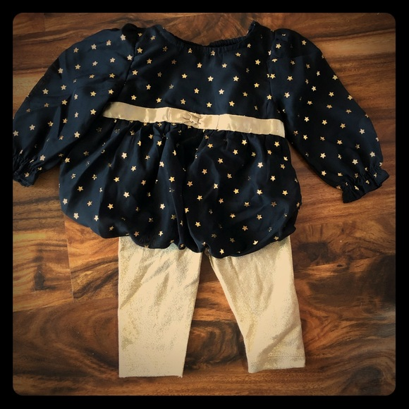 healthtex Other - Gold/black infant outfit